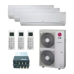Lg Wall Mounted 3-zone Lgred Degrees Heat System - 36000 Btu Outdoor - 9k +...
