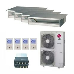 LG Concealed Duct 4-Zone LGRED° Heat System - 36000 BTU Outdoor - 9k + 1...