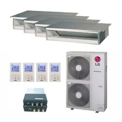 LG Concealed Duct 4-Zone LGRED° Heat System - 42000 BTU Outdoor - 9k + 9...