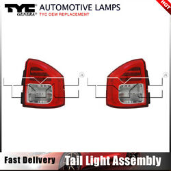 TYC Tail Light Lamp Assembly Left&Right 2PCS For Compass 2011-2013 Nsf Certified