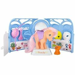My Little Pony Parlor Play Set Horse Toy Kids Toddler Girl Gift Peachy New
