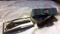 Vintage Schick Adjustable Band Blade Razor With Case And Brush