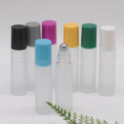 5ml 10ml Frosted Clear Glass Roll On Bottles Roller Ball F Perfume Essential Oil