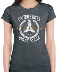 489 United States Space Force Womens T-shirt Donald Funny Trump Conservative New