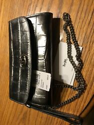 CHAIN CROSSBODY COACH F34730 GUNMETAL SILVER $75.00