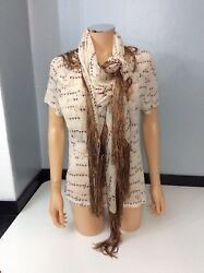 Isabel Marant New Bnwts 2 Piece Top And 100 Silk Scarf Size 38 Uk 10 Rrp Andpound220