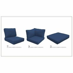 High Back Cushion Set For Barbados-17d In Navy