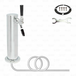 1 Single Tap All Stainless Steel Contact Draft Beer Beverage Tower Faucet Shank