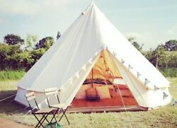 Camping Bell Tent For Family Group Waterproof Canopy Tents Single Layer Shelter