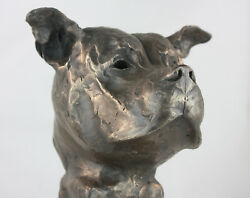 Staffordshire Bull Terrier Bronze Bust Limited Edition sculpture staffy ornament