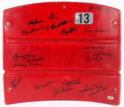 Shea Stadium Game Used Seatback 1962 Ny Mets Signed Kranepool Zimmer Craig Hook+
