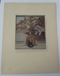 1921 Original Franz Von Bayros, Tipped On Plate From The Divine Comedy By Dante