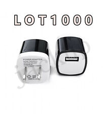 1000pcs 1a Usb Power Adapter Ac Home Wall Charger Us Plug For Iphone 5s 6 7p Bk