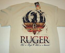 RUGER Firearms This is America Men's T Shirt Lg - 3XL NEW Licensed NWT Authentic $12.99