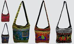100Pc Wholesale Lot Women Crossbody Bag Cotton Shoulder Bag Indian Messenger Bag