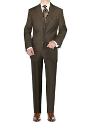 Dti Gv Executive Italian Mens 3 Button 2 Piece Wool Suits Set Jacket Trousers