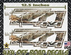 Z71 4x4 Offroad Decals Real Tree Camouflage Chevy Silverado Camo Deer Hunting