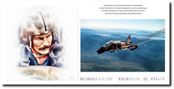 Robin Olds Fighter Pilot By Peter Chilelli - Aviation Art Print