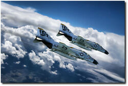 Roll The Bones By Peter Chilelli - Vf-84 - Aviation Art Print