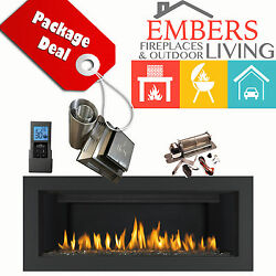 NAPOLEON LHD45 VECTOR LINEAR GAS FIREPLACE MODERN SUROUND VENT KIT REMOTE BLOWER