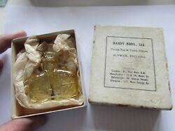 Excellent Xx Rare Vintage Hardy Alnwick Fishing Waiscoat Glass Oil Bottle + Box