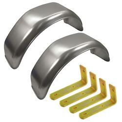 10 Metal Mudguards Fender Pair Flush Fit And Mud Guard Angle Small Brackets