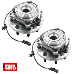 Pair(2) Front  Wheel Hub & Bearing Assembly Fits Ram 2500 3500 4WD 2014-2016 NEW