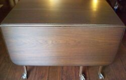 Antique Mahogany Chippendale Carved Claw & Ball Six Gate Leg Drop-Leaf Table