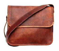 Bag Distressed Leather Messenger Laptop Bag Computer Case Shoulder For Men#x27;s $42.74