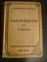 A Pair Of Blue Eyes By Thomas Hardy 1874 Leisure Hour Series First Am Ed