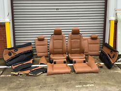 07-08 BMW OEM e92 Coupe 328 335 Saddle Brown Interior Heated Seats Door Panels
