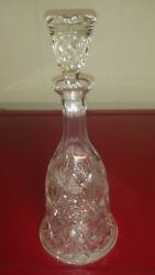 Antique American Brilliant Cut Crystal Decanter Whiskey Wine Water Liquor Heavy