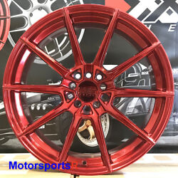 Xxr 567 Wheels 18x8.5 +35 Candy Red Rims 5x114.3 05 09 11 Ford Mustang Gt Fusion