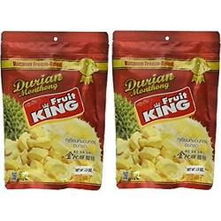 King Fruit - Vacuum Freeze Dried Durian 7 Oz (Monthong Chunk) (3.5 X 2 Bags)