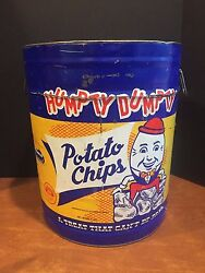 Antique Vintage Advertising Tin Humpty Dumpty Potato Chips