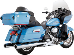 Vance And Hines Power Duals W/ Power Chamber High Performance Exhaust Chrome 16832