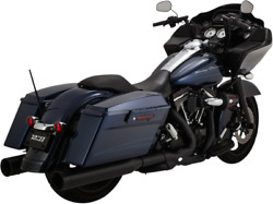 Vance And Hines Power Duals W/ Power Chamber High Performance Exhaust Black 46832