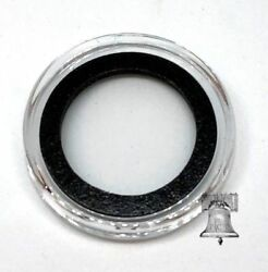 50 Air-tite Coin Holder Capsule Model A Black 18mm Three Cent Nickel Storage
