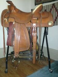 Butch Zubord Custom Saddle Breast Collar Bridle and Cavesson