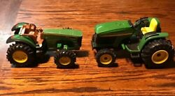 John Deere Ertl 4310 Tractor Riding Diecast Replica Green With 8530 Tractor Toy