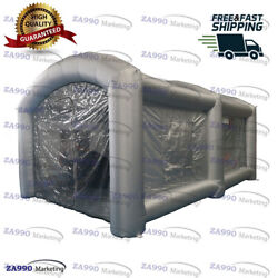 20x13x10ft Inflatable Giant Spray Paint Booth Car Workstation Tent +Fiter System