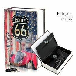 Secret Book Safe - Diversion Metal Lock Box For Securing Handguns And Small Items