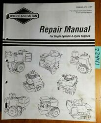 Briggs And Stratton Single Cylinder 4 Cycle Engine Repair Service Manual Ms-4750