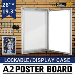 A2 Lockable Poster Frame Menu Outdoor Display Case Signs Advertising 19.3X26