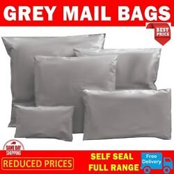 Grey Poly Mailing Postage Postal Bags Quality Self Seal Plastic Value Mailers