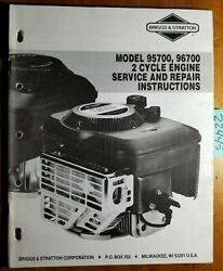 Briggs And Stratton 2 Cycle 95700 96700 Engine Repair Service Manual Ms-9640-1/93