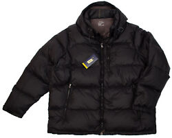 Polo Big Tall Men's Lt Black Quilted Puffer Jacket Coats Hood