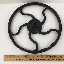 Antique 15 Cast Iron Hand Wheel Pulley Hit And Miss Coffee Grinder Corn Sheller