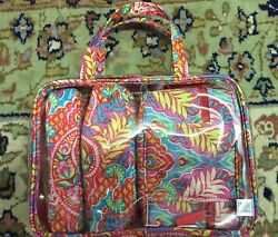 NWT~NEW ~ VERA BRADLEY ~ 4 PC COSMETIC ORGANIZER ~ FLORAL ~ CLEAR BAG