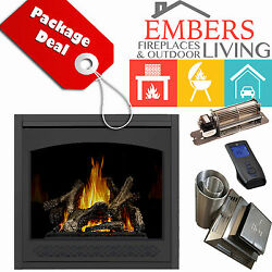NAPOLEON GX70 ASCENT GAS FIREPLACE DIRECT VENT KIT HERITAGE REMOTE BLOWER GLOSSY
